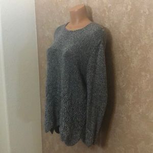 Sweaters - Women's Vintage Handmade Knitted 🧶 Sweater Grey